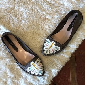 Nana | Soft Leather Butterfly Loafers